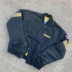 Vintage 80's/90's Starter Steelers Satin Jacket